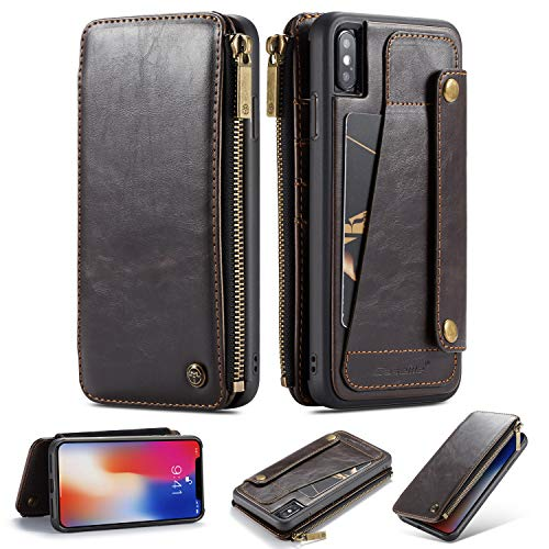 ... 2-in-1 Detachable Premium Leather Wallet Case with 5 Card Holder Slots    Smooth Zipper Wallet 0079e01b7d2d0