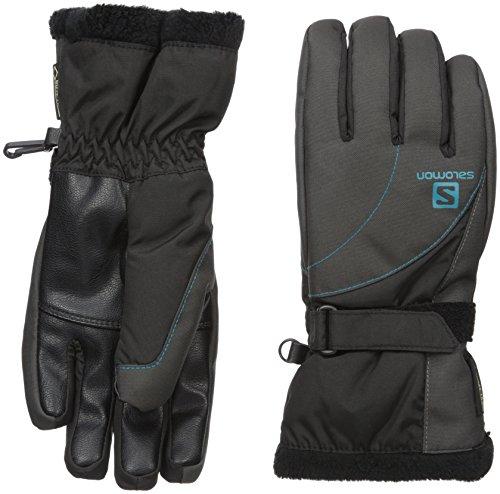 Salomon Women's Force GTX Gloves, Black/Galey Grey, Large