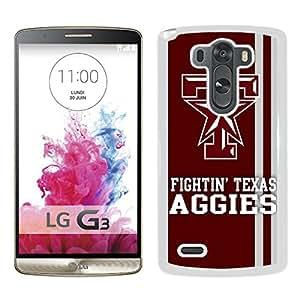 NCAA Texas A&M Aggies 06 White Popular Custom Design LG G3 Phone Case