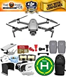 DJI Mavic 2 Pro with Hasselblad 20MP UHD 4K Gimbal Camera Top Speed of 44.7 mph with Extra Battery, 32GB Micro SD Card, Landing Pad, VR Goggles, Sling Backpack + More (2 Battery Total) -  Pixel Hub