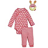 Image of SkipHop Baby Girls' Heart Pop Prints Playwear Set, Watermelon, 3 Months