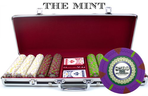 25 Free Chips Drink - Claysmith Gaming 500-Count 'The Mint' Poker Chip Set in Aluminum Case, 13.5gm, Black