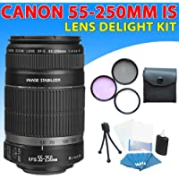 Canon Ef-s 55-250mm F/4-5.6 Is Autofocus Lens Kit for Canon EOS Rebel T1i(500d), T2i(550d), T3, T3i(600d) Dslr Cameras
