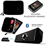 Drum BLACK with GRAY Edge and Back Pocket Carrying Sleeve For Samsung Galaxy Tab 3 Android Tablet 7-inch Display Thinner Bezel + Supertooth Disco Bluetooth Speaker with AUX Cable