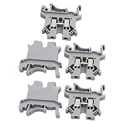Amazon.com: 5pcs Screwless Terminal DealMux Suk-2,5N 800V 32A Rail Mount 2,5mm2 Cabo bloco cinza: Electronics