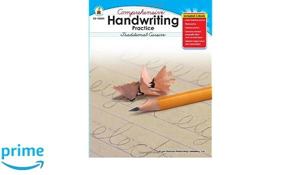 Amazon.com: Comprehensive Handwriting Practice: Traditional ...