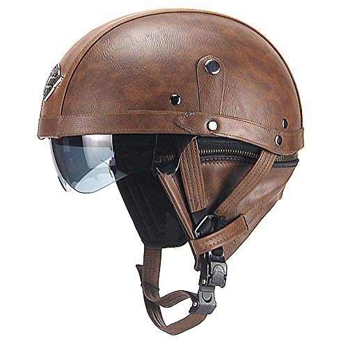 PU Harley Motorcycle Helmet Protective Gear Retro Personality for sale  Delivered anywhere in Canada