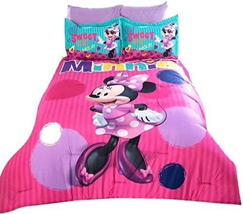 Amazon Com Jorge S Home Fashion Inc Minnie Mouse Disney Original Kids Girls Comforter Set 3 Pcs Queen Size Home Kitchen