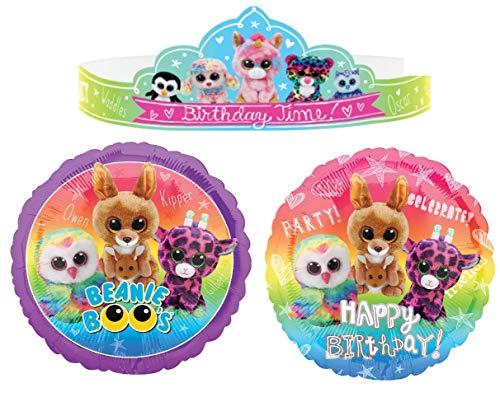 Beanie Boos Birthday Fun Kit, Includes Tiaras For