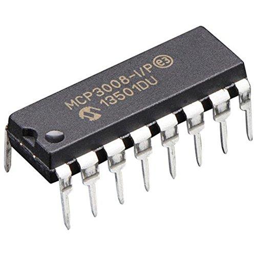 [해외]마이크로 칩 MCP3008-I P 10 비트 ADC, SPI (Pack of 4)/Microchip MCP3008-I P 10-Bit ADC with SPI (Pack of 4)