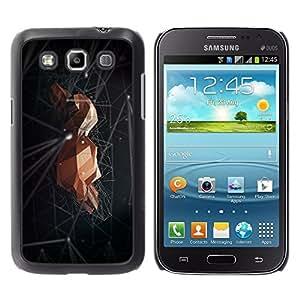 TopCaseStore / la caja del caucho duro de la cubierta de protección de la piel - Rock Space Black Minimalist Abstract - Samsung Galaxy Win I8550 I8552 Grand Quattro