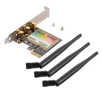 Tutmonda 2.4G / 5G Dual Band 450M PCI-E WiFi Adaptador de ...
