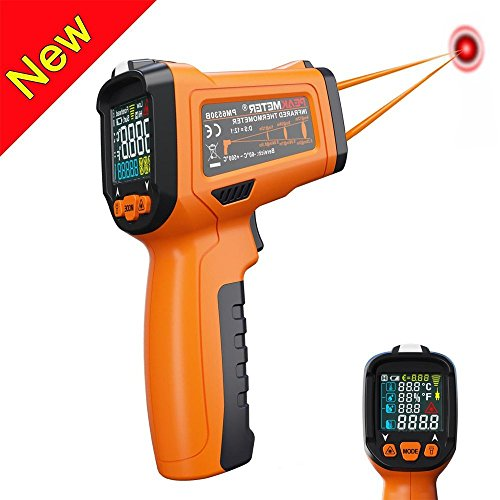 Infrared Thermometer, Non Contact Laser Thermometer Gun for Oven Kitchen Cooking BBQ Automotive Industrial, -58℉ ~ 1022℉ with LCD Display by Dinlly (Image #2)