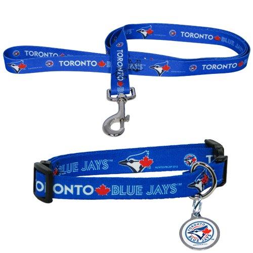 Hunter Manufacturing HUN-4100-14-6500 Toronto Blue Jays MLB Dog Collar & Leash Set