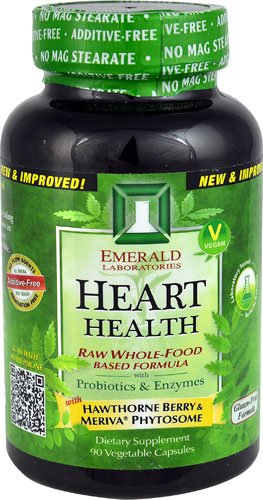 Emerald Labs Heart Health -- 90 Vegetable Capsules - 2PC by