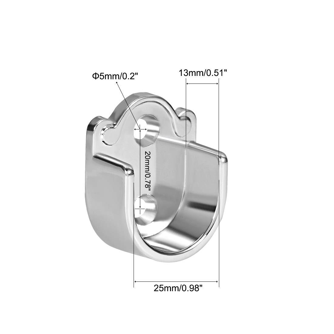Sourcingmap aleaci/ón de zinc Soporte para barra de cortina de ducha 2pcs 19mm Dia