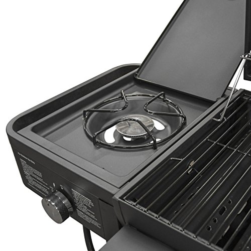 Smoke Hollow TC3718SB Gas-Charcoal-Smoker Combination Grill with Side Burner by Smoke Hollow (Image #4)