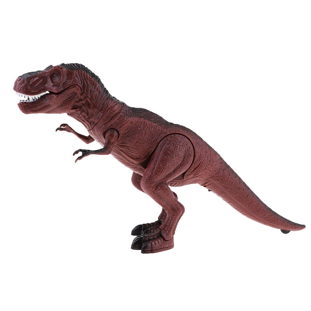 Prettyia Remote Control Walking Roars Dinosaur Toy for Kids with Lights /& Sounds Triceratops