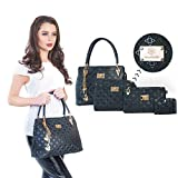 Handbags for Women | Womens Bags Shoulder Bags Ladies Handbags | Purses Clutch Totes Satchel (Black)