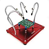Professional WorkBench Helping Hands Third Hand Soldering tool Equipment Workstation Soldering Station PCB Holder with 4 free-moving Flexible Arms,4 Pillars for Electronic Repair RC hobby - BT004