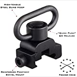 MTAC QD Sling Mount and Swivel with Release Button (Picatinny / Weaver) by FMT (QD Sling Attachment, two point and traditional slings)
