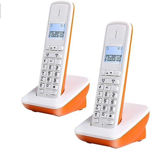 TTBB Teléfono inalámbrico Digital, autónomo (Esclavo), Esclavo a Esclavo, Naranja, recordatorio de Alarma, extensión esclava, Manos Libres claras: Amazon.es: Hogar