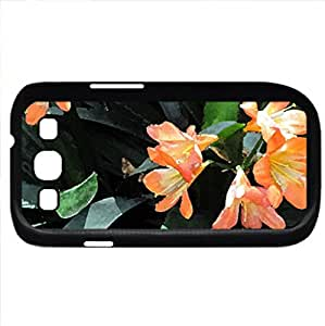 Attractive Flowers at the garden 61 (Flowers Series) Watercolor style - Case Cover For Samsung Galaxy S3 i9300 (Black)