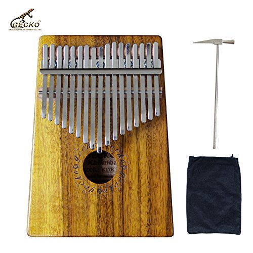 Gecko K17K 17 key Kalimba Solid KOA African Thumb Piano Finger Percussion Keyboard Kids Marimba Wood