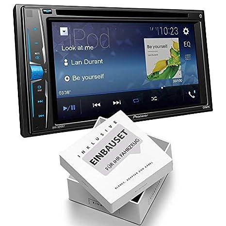 Pioneer AVH-A210BT 2-DIN Mediacenter Bluetooth USB Aux Bluetooth passend f/ür Audi A6 2001-2005 Vollaktiv Bose