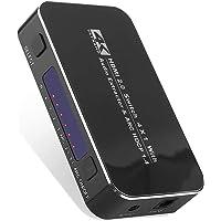 KuWFi 4K HD HDMI Switch, 4 Portas 4K x 2K HDMI 2.0 Switcher Hub Switches com Controle Remoto Sem Fio IR, Para Mackbook…