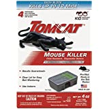 Tomcat Mouse Killer Child Resistant, Disposable Station (4 Disposable Traps)