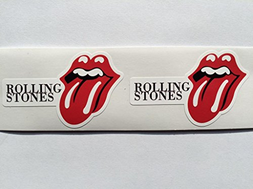 2 Rolling Stones Name & Tongue Logo Die Cut Decals
