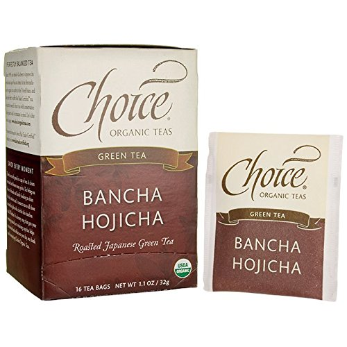 Choice Organic Bancha Hojicha Roasted Japanese Green Tea, 16 Count (Green Bancha Tea)