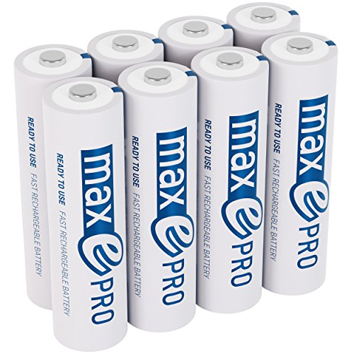 ANSMANN maxE Pro AA Rechargeable Batteries 2000mAh Low Self-Discharge (LSD) AA Batteries pre-charged for remote, controller, flashlight etc. (8-Pack) + 2x Battery Box