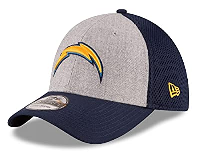 "San Diego Chargers New Era NFL 39THIRTY ""Heathered Gray Neo"" Flex Fit Hat"