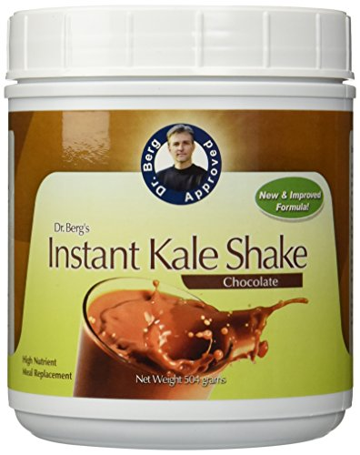 Instant Chocolate Kale Shake – High Quality Protein Powder – Weight Loss Shake – Meal Replacement By Dr. Berg (504 Grams) by Dr. Berg's Nutritionals (Image #1)