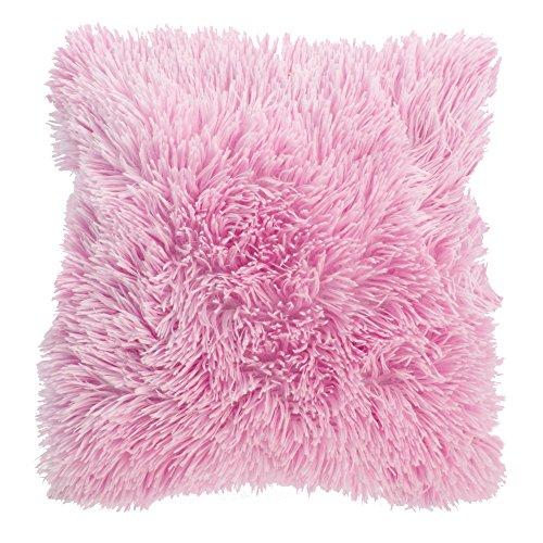 Supersoft Doux Kissenbezug / Kissenhülle, besonders flauschig, Kissen nicht im Lieferumfang enthalten (43 x 43 cm) (Pink)