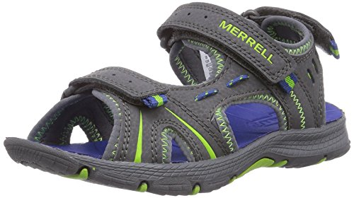 Merrell Panther Athletic Water Sandal , Grey/Blue, 3 M US Little Kid