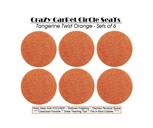 Orange TWISTED TANGERINE - CraZy CarPet CirCle SeaTs ( Set of 6 ) Children's Choice   18