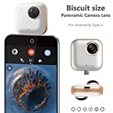 VR 360 Camera, Keymao Panoramic Fisheye 3D Dual Video Phone Lens for Android for Samsung Galaxy Google Sony & More
