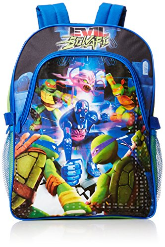 Nickeoldeon Boys' Ninja Turtles Deluxe Backpack with Lunch Kit, Multi, One Size