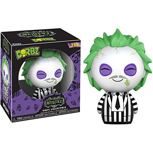 Funko Beetlejuice Dorbz Vinyl Figure + 1 Classic Horror & Sci-fi Movies Trading Card Bundle (15030)