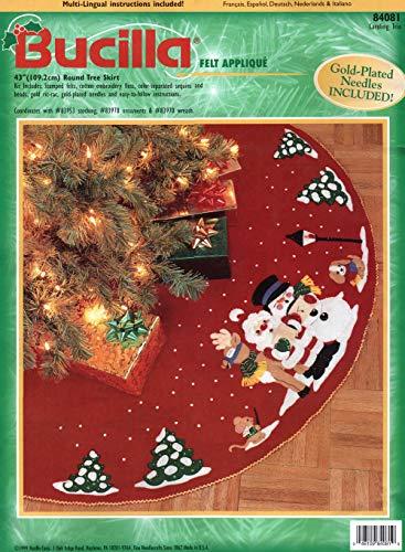 Bucilla Caroling Trio Felt Applique Tree Skirt Kit - Tree Skirt Felt Bucilla
