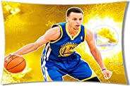 NBA Superstar Golden State Warriors Stephen Curry Pattern Pillow Case Pillow Case Cover 20 30 Two Sides Print