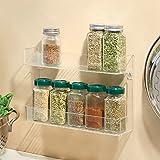 InterDesign Linus Wall Mount Spice Organizer Rack for Kitchen Storage - 2 Tier, Clear