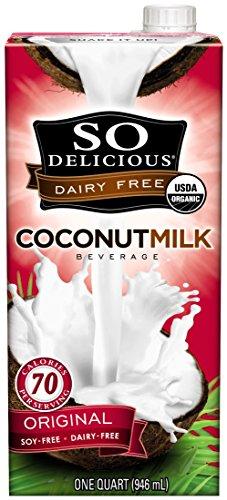 (So Delicious Dairy Free Organic Coconutmilk Beverage, Original, 32 oz (Pack of)