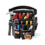 Heavy Duty Technician and Electrician's Waist Tool Bag with Multiple Pockets, Tool Organizer, EVA with Suede Lamination,...