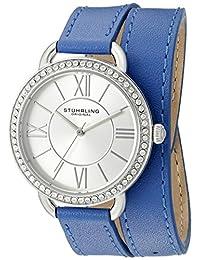 Stuhrling Original Women's 587.01 Deauville Analog Display Quartz Blue Watch