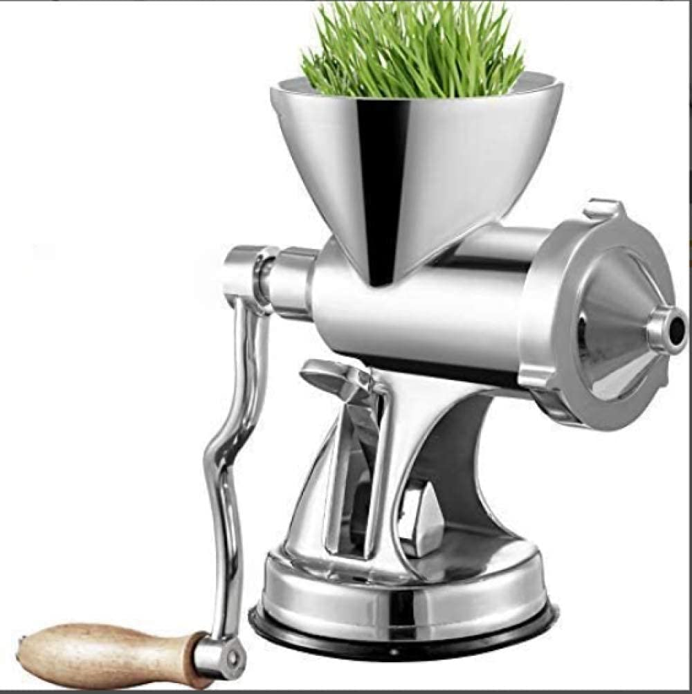 HXIYANG Juicer,Manual Wheatgrass Press with Suction Cup Base and Table clamp, Long Screw Shaft, Wheatgrass juicer, Stainless Steel for juicing Wheatgrass