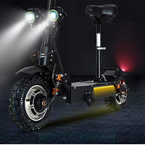 GUNAI Patinete Electrico Adulto Scooter Plegable Todoterreno de Doble Unidad 3200w con Batería de Litio de 60V 24AH